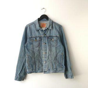 Levi's Denim Tucker Jacket Button Pocket Blue XL